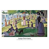Posters: Georges Seurat Poster - A Sunday Afternoon On The Island Of La Grande Jatte (36 x 24 inches)