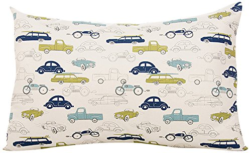Sweet Potato Uptown Traffic Small Sham Bedding Set, Cream/Avocado/Grey/Royal Blue