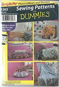 Amazon.com: SIMPLICITY 5263 SEWING PATTERNS FOR DUMMIES - FLEECCE PILLOWS &am...