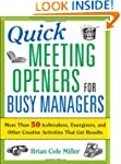 Quick Meeting Openers for Busy Manage...