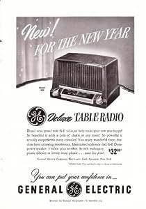 1951 General Electric GE Table Radio Model 404 Original Vintage Print Ad