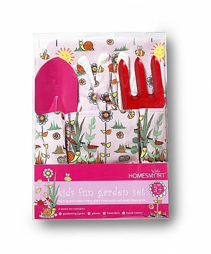 Pink Gardening Apron with Tools