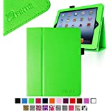 Fintie Folio Case for iPad 4th Generation with Retina Display, the New iPad 3 & iPad 2 Slim Fit Stand Smart Cover with Auto Sleep / Wake Feature - Green