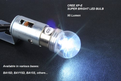 1156 Led Auto Bulb - Cree Xp-E, Super Bright Cool White Led - Protective Cover - Auto, Marine, Rv, Truck - Ba15S Base