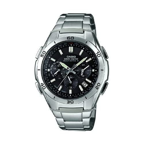 Casio Men's Quartz Watch with Black Dial Analogue Display and Silver Stainless Steel Bracelet WVQ-M410DE-1A2ER