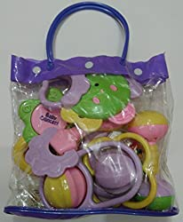 Smt Rattle,Sweet Cuddle Infants,Rattle, Jhunjhuna New Born Toys Set Of 7 Pec (Multicolor)