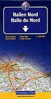 Carte routière et touristique : Italie du Nord
