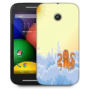 Snoogg Summer Illustrattion Designer Protective Phone Back Case Cover For Motorola E2 / MOTO E22