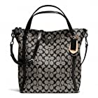 Coach 24601 Peyton Black Signature Convertible Shoulder Bag
