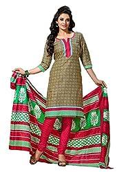 HIFI Ethnicwear Women's Dress Material(HIFI 3407_Beige_Free Size)