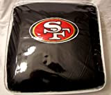 11 Piece NFL Auto Interior Gift Set - San Frencisco 49ERS - A Set of 2 Seat Covers, 1 Rear Bench Cover, 1 Steering Wheel, and A Set of 2 Seat Belt Pads