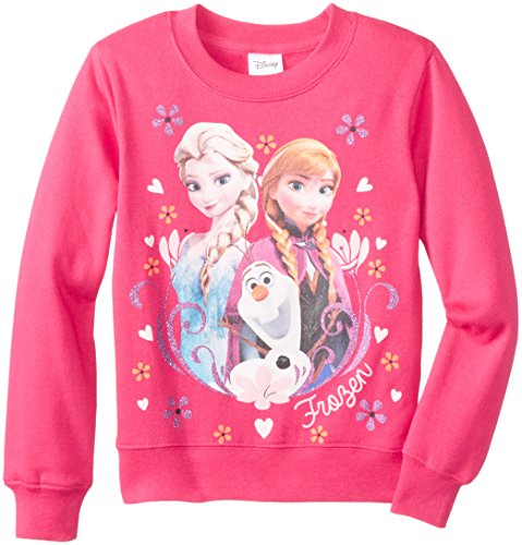 Frozen Little Girls' Family Portrait Crew-Neck Long-Sleeve Shirt