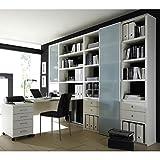 Wohnwand-Bcherregalwand-mit-Schreibtisch-TOLEO238-Lack-wei