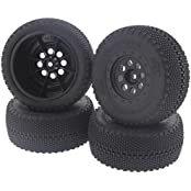 Hpi 1/10 Blitz Flux * Front & Rear Hb Megabite Sc Tires & Wheels * 12mm Hex Hubs