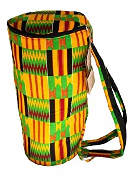 African Kente Cloth Djembe Drum Bag - 16x26 Extra Large