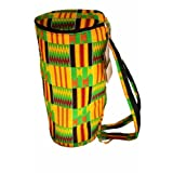 African Kente Print Djembe Bag - Backpack style case fits 12.5