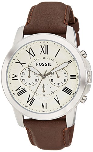 Fossil Grant Chronograph Analog Beige Dial Men's Watch - FS4735