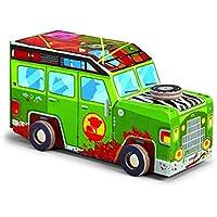Crocodile Creek Jeep Safari 48 Piece Jigsaw Puzzle + Vehicle Play Set