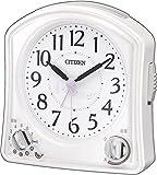 CITIZEN(リズム時計) メロディ・バードソング・電子音の選択目覚まし ムーランR02F 白色 8RMA02-N03