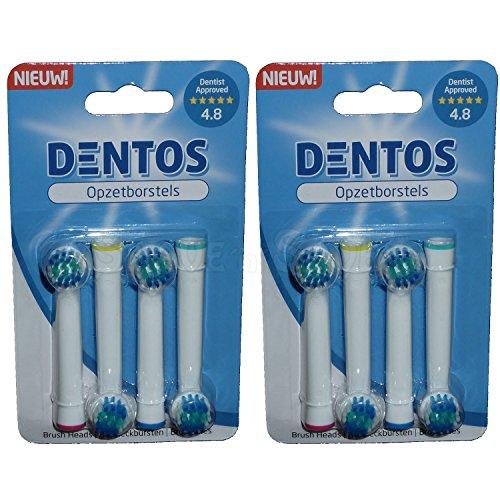 Dentos Aufsteckbürsten für elektrische Braun Oral-B Precision Clean Vitality Zahnbürsten - Premium Qualität (8)