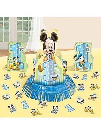 Mickey Mouse 1st Birthday Table Decorating Kit Centerpiece - 1
