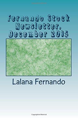 Fernando Stock Newsletter, December 2015: A Mnthly Newsletter