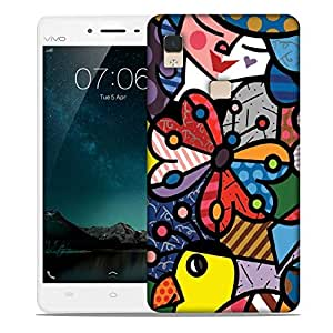 Snoogg Multicolor Butterfly Designer Protective Phone Back Case Cover For Vivo V3 Max