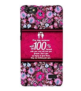 Honest Love Quote 3D Hard Polycarbonate Designer Back Case Cover for Huawei Honor 4C :: Huawei G Play Mini