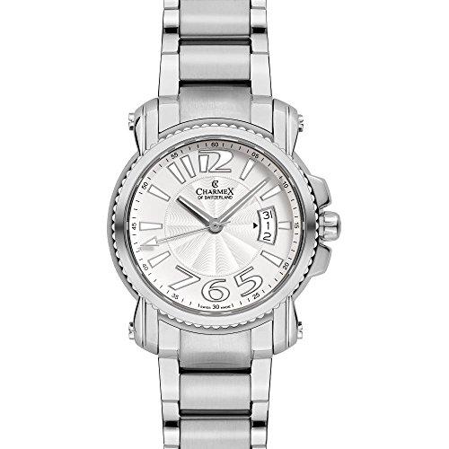 Charmex Berlin 2520 42mm Silver Steel Bracelet & Case Synthetic Sapphire Men's Watch