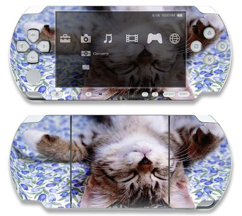 Cute Kitty Cat Decorative Protector Skin Decal Sticker for Sony Playstation PSP Slim / PSP 3000