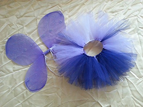 Handmade Tutu Infant Toddler Fairy Butterfly Wing Costume Set