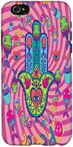Snoogg Love and peace Hard Back Case Cover Shield For Apple Iphone 6 S / 6s