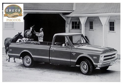 1968 Chevrolet C10 Pickup (12x18 Factory Photo) (License Plate Frame Chevy C10 compare prices)