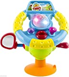 WolVol Driving Steering Wheel for Kids, Equipped with Lights, Mirror, Music, Various Driving Sounds