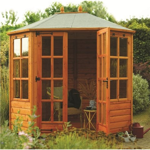 Ryton 8ft x 6ft Cambridge Octagonal Summerhouse