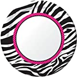 Creative Converting Pink Zebra Boutique Round Dinner Plates, 8 Count