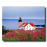 West Quoddy Head Lighthouse Ocean Home Decor Wall Picture 16x20 Art Print