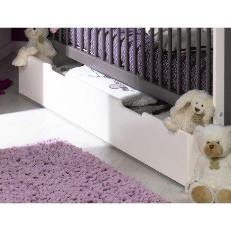 Alfred & Compagnie - Lit évolutif avec tiroir blanc / taupe 70x140