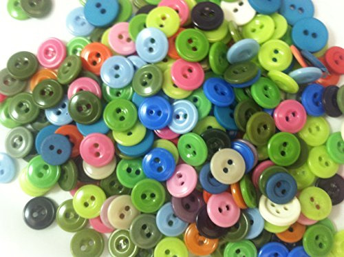 250 Colorful Sewing Buttons 1/2