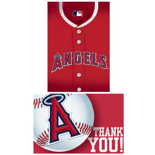 Los Angeles Angels Baseball - Invite & Thank-You Combo Party Accessory - 1