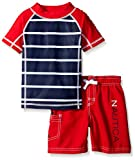 Nautica Boys Stripe Rashguard Swim Set