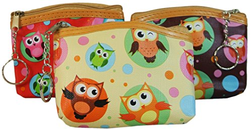 Owl Coin Purses Set of 3 Change Purses Stocking Stuffers