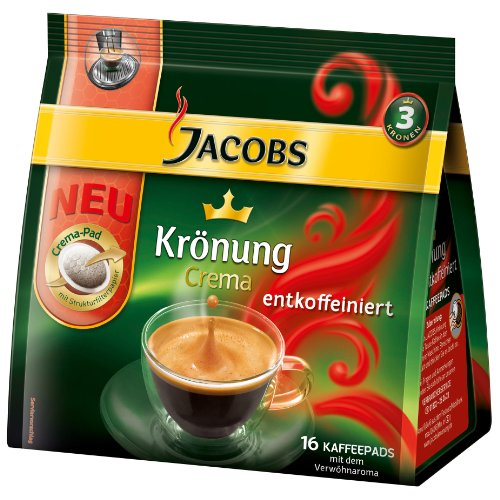 Shop for Jacobs Krönung Crema Decaffeinated, 16 Coffee Pods by Kraft Foods