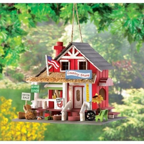 Gifts & Decor Rustic Old Time Country Store Wooden Bird House (Discontinued by Manufacturer)