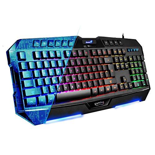 Genius Zeus E-Sport Backlit Gaming Keyboard Adjustable Usb Led Backlight