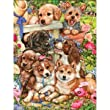 MASTERPIECES 750 PC PUZZLE GARDEN PUPS