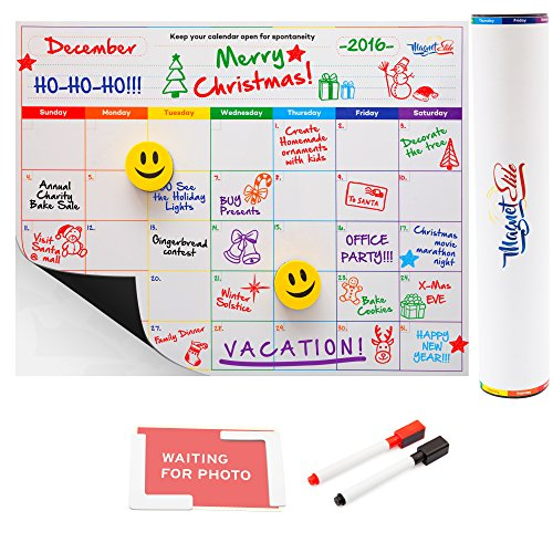 magnetic-fridge-calendar-white-board-and-organizer-16x12-inch-with-markers-smiley-face-erasers-and-p