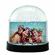 Horizontal Photo Snow Globe (Clear)