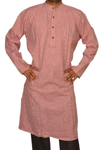 Mens Casual Cotton Khadi Long Kurta Fabric For Winter & Summers Size-6XL