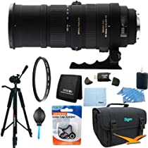 Sigma 150-500mm F/5-6.3 APO DG OS HSM Autofocus Lens For Nikon Lens Kit Bundle